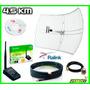 Antena Rejilla + Rompemuros + Pigtail + Cable 6m Sma + Beini