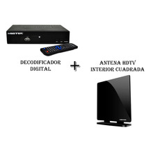 Kit Decodificador Digital Master + Antena Hdtv Interior
