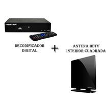 Kit Decodificador Digital + Antena Hdtv Interior Master
