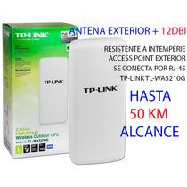 Antena Wifi Exterior Largo Alcance+12dbi Tp-link,50km,access