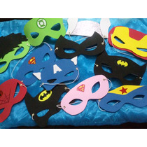 Antifaces De Superheroes, Souvenir, Recuerdo, Regalo