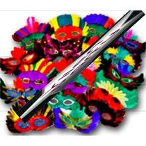 5 Antifaces Surtido Con Plumas Varios Colores