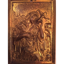 Placa En Bronce .... Colonial .... Religiosa.... Siglo Xviii