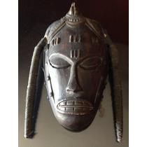 Máscara Tallado En Madera Antigua Coleccion Envió Gratis