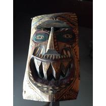 Máscara Antigua Tallada Madera