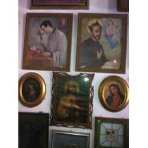Antiguo Cuadro Sagrado Corazon Daa