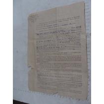 Antiguedad Año 1926 Documento Con Timbres Postales