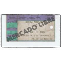U2,boleto Tickett Del Mítico Concierto De U2 En Mexico 1992!