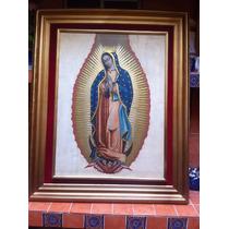 Virgen De Guadalupe Con Vestido En Hoja De Oro