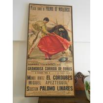 Cartel Taurino,sobre Tela