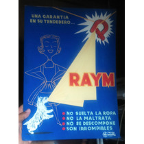 Antigua Publicidad En Carton De Raym Para Tendedero,