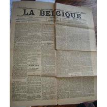 Periodico Belga Antiguo 11 Agost 1892 La Belgique En Frances