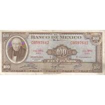 100 Pesos 1972 Miguel Hidalgo Y Costilla American Bank Hm4