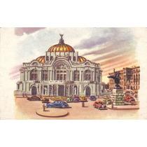 Antigua Postal Años 60´s Palacio Bellas Artes Mexico D.f Hm4