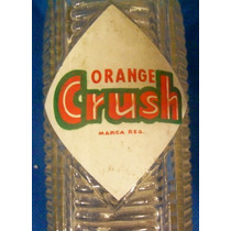 Antiguo Envase Botella Refresco Orange Crush 1960 ´s - Hm4