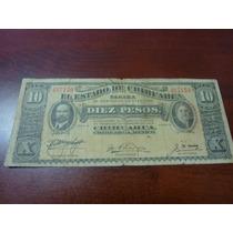 Billete Del Estado De Chihuahua De 5 Pesos De 1914
