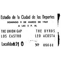 Boleto Antiguo Para Coleccionistas De Evento Del 9/03/1969