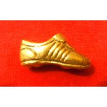 Zapato De Futbol Miniatura De Bronce