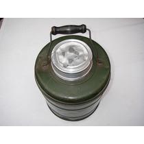 Termo Contenedor Vintage Metal Con Ceramica Verde De 1 Galón