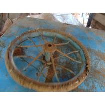 Excelente Antigua Rueda De Triciclo, 20 Cm De Diametro.