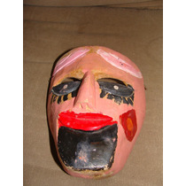 Antigua Mascara De Madera