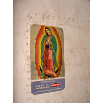 Antiguedad Calendario De Rayovac Virgen Año 1966