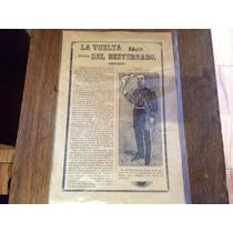 Ca.1913 Vuelta Destierro Porfirio Diaz Grabado De Posada