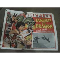 Cartel Antiguo De Cine De La Pelicula La Muerte De El Dragon