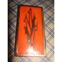 Planta, Antigua Pieza De Cobre Esmaltada Unica Mide 4x 8cm