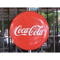 Anuncio Botón De Coca Cola Antiguo Lamina Porcelanizada 50´s