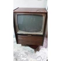 Televisión Antigua Philips De Bulbos 1964 Blanco Y Negro