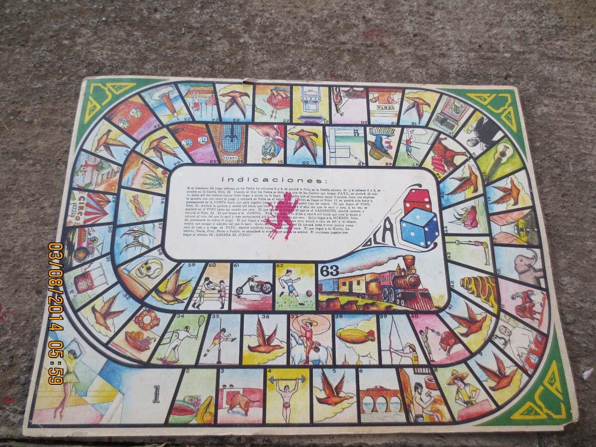 Antiguo juego de mesa juego de la oca mexicano en mercadolibre - La oca juego de mesa ...