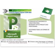 Project 2010 Profesional / Licencia De Activación