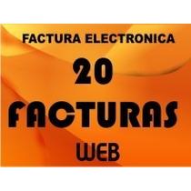 Factura Electrónica Web 20 Timbres O Facturas