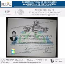 Certificado De Preparatoria, Títulos & Cédulas Prof