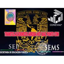 Certificado De Prepa, Cédula Y Título Profesional Registrado