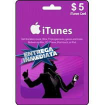 Tarjeta Gift Card Itunes De 5 Usd Para Iphone Ipad Ipod Mac