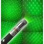 Apuntador Laser Verde 100mw + 5 Cabezas Multipuntos C/pilas