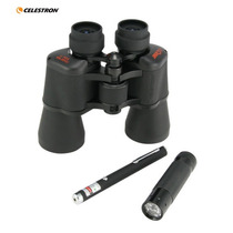 Binoculares Celestron Upclose 10x50 + Laser Verde + Lampara