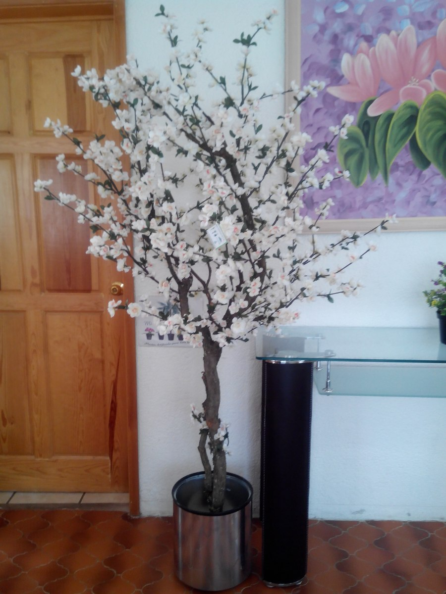 Arbol flor durazno artificial 2 20 2 en for Arboles decorativos para jardin