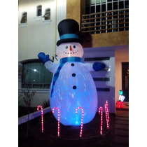 Muñeco Nieve Inflable