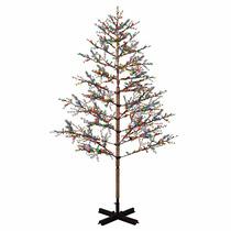 Arbol Navidad Ciruelo Con Luz Led De Colores 2.4m Alto