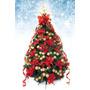 Árbol De Navidad Decorado Artificial 2.50mts Rojo/oro