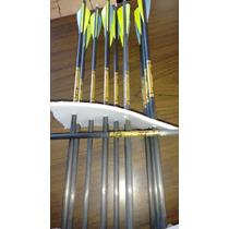 12 Flechas De Carbon Marca Gold Tip 3d X Pro Con Puntas