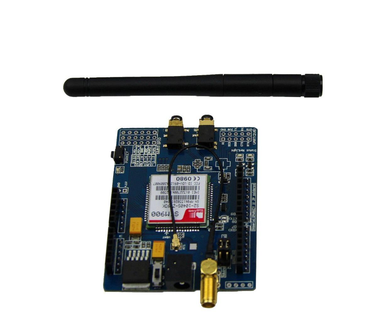 Arduino módulo sim gsm gprs para con antena