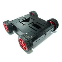 Robot Movil Chasis Negro Aluminio Raspberry Pic Arduino Vbf