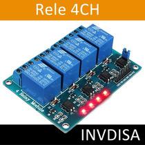 Modulo Rele Relay Relevador 4 Canales 5v Arduino Raspberry