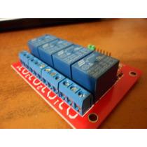 Modulo Relay 4 Canales Arduino Pic Funciona Con 1 Logico