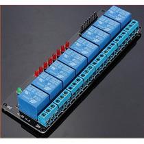 Modrelay8 Modulo Relevadores 8 Canales 5v Para Arduino Uno