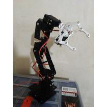 Brazo Robótico 6 Grados De Libertad Arduino Servo
